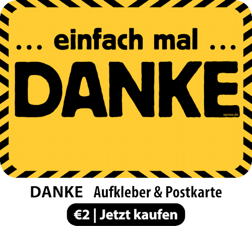 DANKE Postkarte & Aufkleber